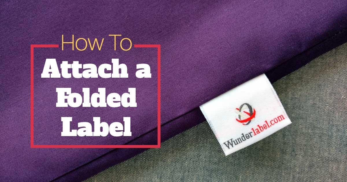 折加工のある織りネームの縫い付け方