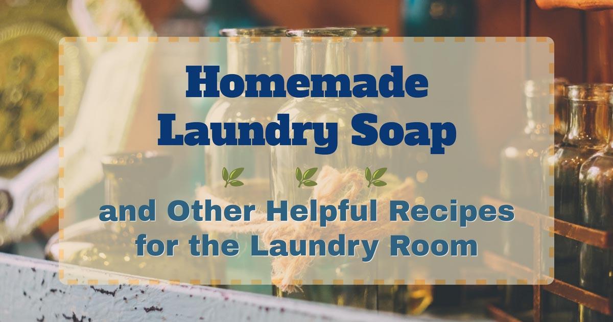 手作り洗濯石鹸でランドリータイムを楽しんで